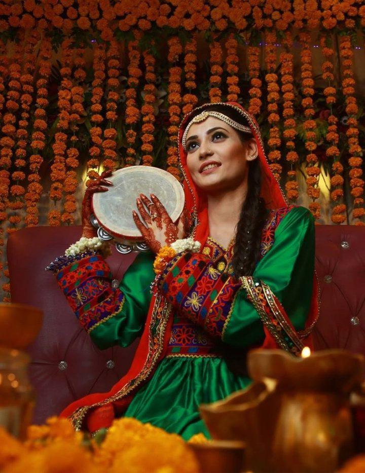 Emerald Mehndi Dress