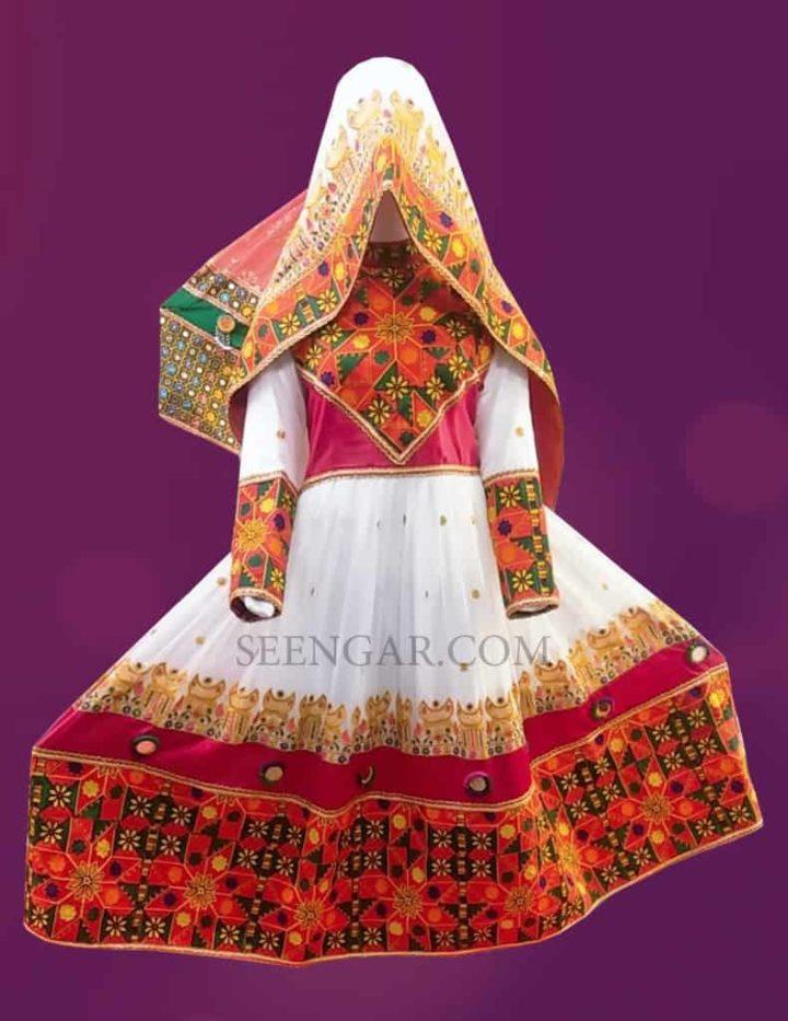 Summer White Afghan Dress 1
