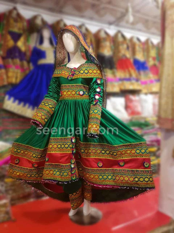 Green-Afghan-Kuchi-Dress