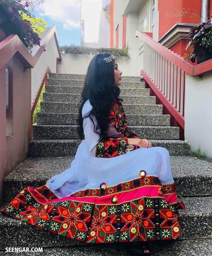 Malangi White Afghan Dress